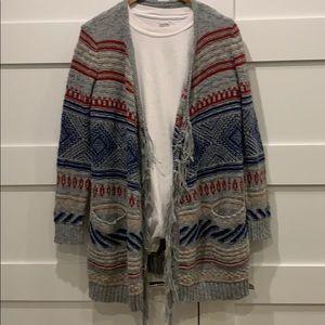 American Eagle Boho Long Knit Cardigan